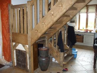 Escalier rustique bac bois for Rondin de bois pour escalier exterieur